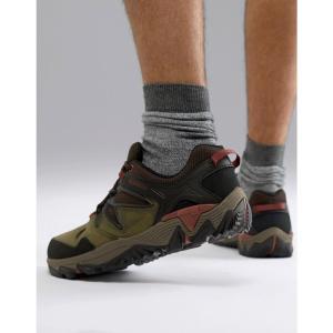 メレル Merrell メンズ シューズ・靴 ハイキング・登山 All Out Blaze 2 hiking trainers in olive Dark olive|fermart-shoes