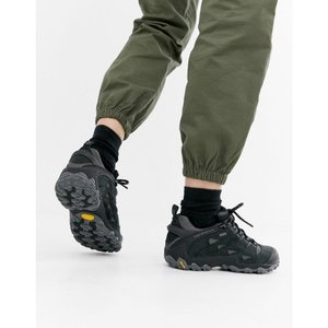 メレル Merrell レディース シューズ・靴 ハイキング・登山 Chameleon 7 Gore-tex Hiking Trainers in black Black|fermart-shoes
