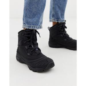 メレル Merrell レディース シューズ・靴 ハイキング・登山 Snowbound Mid Waterproof hiking boots in black Black|fermart-shoes