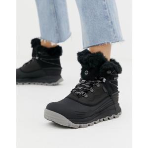 メレル Merrell レディース ブーツ シューズ・靴 Thermo Vortex Waterproof snowboot in black Black|fermart-shoes