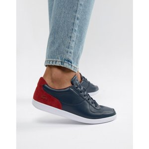 ラコステ Lacoste メンズ スニーカー シューズ・靴 leather trainers in white White|fermart-shoes