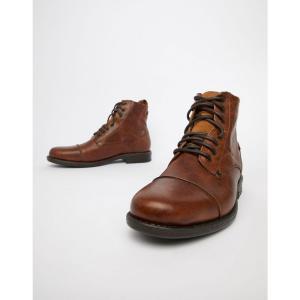 リーバイス Levis メンズ ブーツ シューズ・靴 Levi's emerson leather boot in brown Medium brown|fermart-shoes