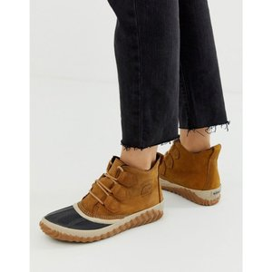 ソレル Sorel レディース ブーツ シューズ・靴 Out N About Plus camel leather lace up ankle boots Camel|fermart-shoes