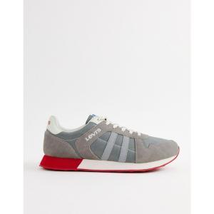 リーバイス Levis メンズ スニーカー シューズ・靴 Levi's webb runner trainers grey Grey|fermart-shoes