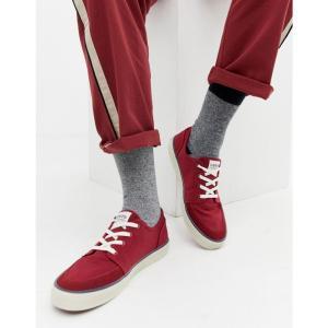 リーバイス Levi's メンズ スニーカー シューズ・靴 stevens canvas trainer red Red|fermart-shoes