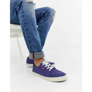 リーバイス Levis メンズ スニーカー シューズ・靴 Levi's stevens canvas trainer blue Blue|fermart-shoes