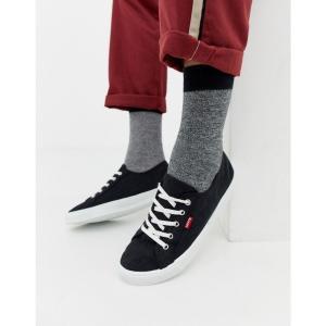 リーバイス Levis メンズ スニーカー シューズ・靴 Levi's malibu canvas trainer black Black|fermart-shoes