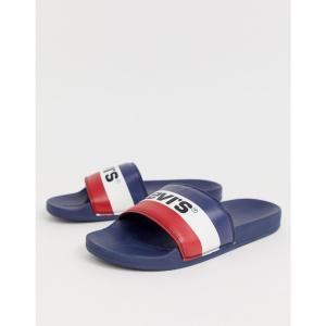 リーバイス Levi's メンズ サンダル シューズ・靴 levi's june sportswear slider blue Blue|fermart-shoes