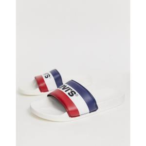 リーバイス Levi's メンズ サンダル シューズ・靴 levi's june sportswear slider white White|fermart-shoes