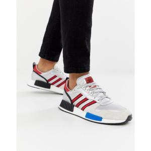 アディダス adidas Originals メンズ スニーカー シューズ・靴 Never Made Rising Star limited edition trainers in silver Silver fermart-shoes