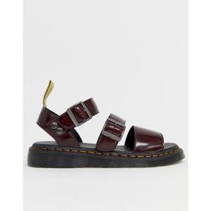 ドクターマーチン Dr Martens メンズ サンダル シューズ・靴 Vegan Gryphon strap sandals in red Red fermart-shoes