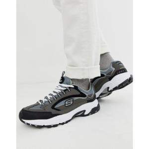 スケッチャーズ Skechers メンズ スニーカー シューズ・靴 D'lites Cutback chunky trainers grey black Grey fermart-shoes