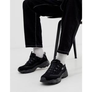 スケッチャーズ Skechers メンズ スニーカー シューズ・靴 D'lites chunky trainers in black Black fermart-shoes