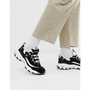 スケッチャーズ Skechers メンズ スニーカー シューズ・靴 D'lites chunky trainers in black white Black fermart-shoes