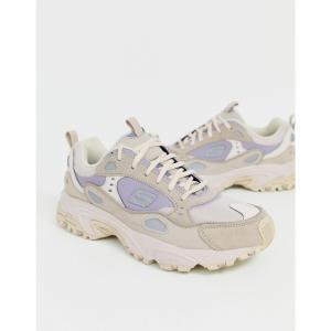 スケッチャーズ Skechers メンズ スニーカー シューズ・靴 Stamina Contic chunky trainers in beige Beige fermart-shoes