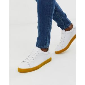 セレクテッド オム Selected Homme メンズ スニーカー シューズ・靴 leather trainers with contrast yellow sole Mango mojito|fermart-shoes