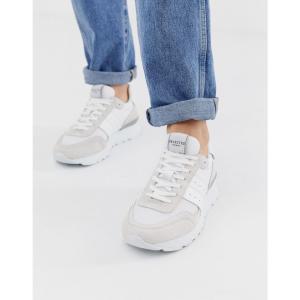 セレクテッド オム Selected Homme メンズ スニーカー シューズ・靴 trainers with mesh detail White|fermart-shoes