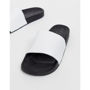 セレクテッド オム Selected Homme メンズ サンダル シューズ・靴 leather sliders White|fermart-shoes