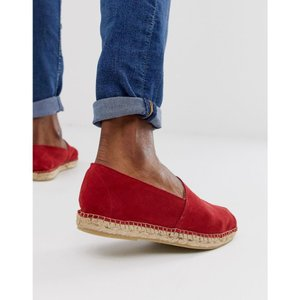 セレクテッド オム Selected Homme メンズ エスパドリーユ シューズ・靴 suede spanish espadrilles in red Scarlet sage|fermart-shoes