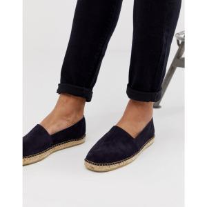 セレクテッド オム Selected Homme メンズ エスパドリーユ シューズ・靴 suede spanish espadrilles in navy Dark navy|fermart-shoes