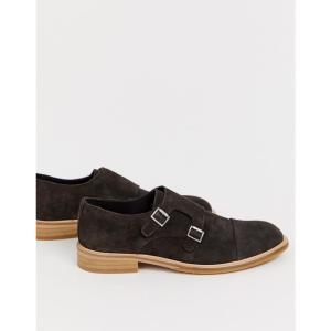 セレクテッド オム Selected Homme メンズ 革靴・ビジネスシューズ シューズ・靴 suede monk shoes Demitasse|fermart-shoes