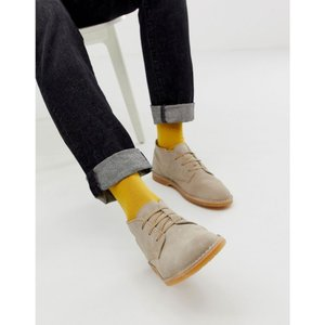 セレクテッド オム Selected Homme メンズ ブーツ シューズ・靴 suede desert boots in beige Cornstalk|fermart-shoes