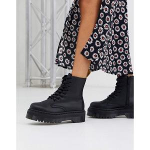 ドクターマーチン Dr Martens レディース ブーツ シューズ・靴 Jadon chunky boots in vegan black ブラック fermart-shoes