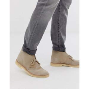 クラークス Clarks メンズ ブーツ シューズ・靴 Originals desert boots in sand suede Beige|fermart-shoes