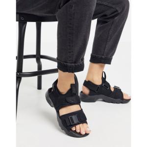 ナイキ Nike レディース サンダル・ミュール シューズ・靴 Canyon sandals in black ブラック|fermart-shoes