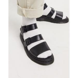 ドクターマーチン Dr Martens メンズ サンダル シューズ・靴 vegan gryphon strap sandals in black ブラック fermart-shoes
