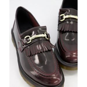 ドクターマーチン Dr Martens メンズ ローファー シューズ・靴 Adrian bar loafers in red レッド fermart-shoes