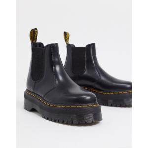 ドクターマーチン Dr Martens レディース ブーツ 厚底 チェルシーブーツ シューズ・靴 2976 flatform chelsea boots in black ブラック fermart-shoes