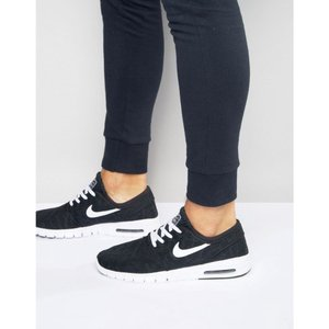 ナイキ メンズ スニーカー シューズ・靴 Nike SB Stefan Janoski Max Trainers In Black 631303-010 Black|fermart-shoes