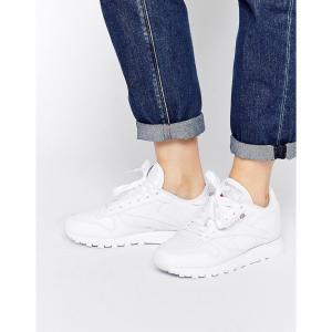 リーボック レディース スニーカー シューズ・靴 Reebok Classic Leather Trainers In White White fermart-shoes