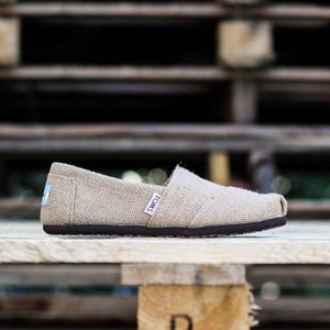トムズ レディース ブーツ シューズ・靴 Toms Classic Natural Burlap beige|fermart-shoes