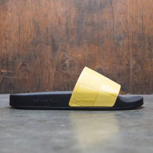 アディダス Adidas Raf Simons メンズ スニーカー シューズ・靴 Adidas x Raf Simons Adilette Checkerboard black / core black / super lemon fermart-shoes