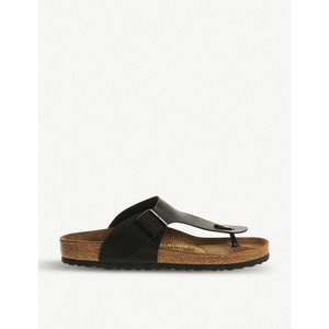 ビルケンシュトック レディース サンダル・ミュール シューズ・靴 ramses faux-leather thong sandals Black|fermart-shoes