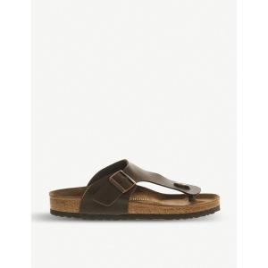 ビルケンシュトック レディース サンダル・ミュール シューズ・靴 ramses faux-leather thong sandals Dark brown|fermart-shoes