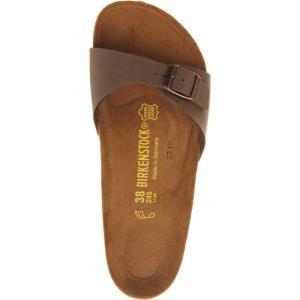 ビルケンシュトック birkenstock レディース シューズ・靴 サンダル madrid faux-leather sandals Mocha nubuck|fermart-shoes