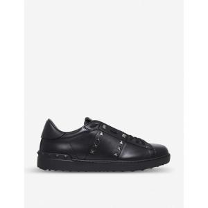 ヴァレンティノ valentino メンズ シューズ・靴 テニス rockstud studded leather tennis shoes Black