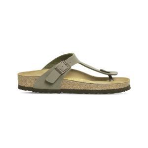 ビルケンシュトック birkenstock レディース シューズ・靴 サンダル faux-leather thong sandals Stone|fermart-shoes