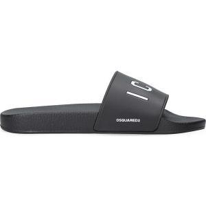 ディースクエアード dsquared2 メンズ サンダル シューズ・靴 icon pool rubber sliders White/blk|fermart-shoes