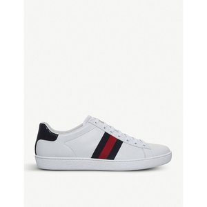 グッチ gucci レディース スニーカー シューズ・靴 new ace leather trainers Blue other|fermart-shoes