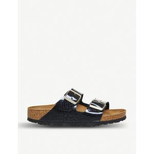 ビルケンシュトック birkenstock レディース サンダル・ミュール シューズ・靴 arizona snake-print patent sandals Magic snake black fermart-shoes