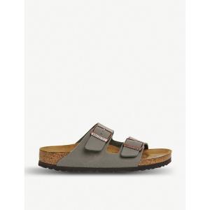 ビルケンシュトック レディース サンダル・ミュール シューズ・靴 arizona faux-leather sandals Stone|fermart-shoes