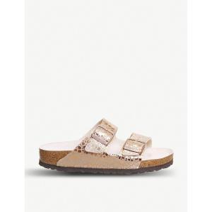 ビルケンシュトック レディース サンダル・ミュール シューズ・靴 arizona pebble-print metallic sandals Metallic copper|fermart-shoes