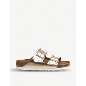 ビルケンシュトック birkenstock レディース サンダル・ミュール シューズ・靴 arizona metallic faux-leather sandals Metallic cooper fermart-shoes