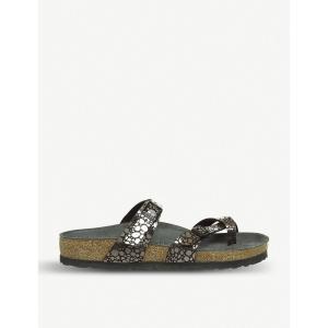 ビルケンシュトック birkenstock レディース サンダル・ミュール シューズ・靴 mayari stone-effect metallic sandals Metallic black fermart-shoes