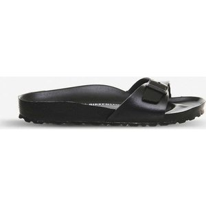 ビルケンシュトック birkenstock レディース サンダル・ミュール シューズ・靴 madrid 1 bar faux-leather sandals Black eva fermart-shoes