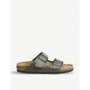 ビルケンシュトック メンズ サンダル シューズ・靴 arizona birko-flor sandals Pull up anthracite|fermart-shoes